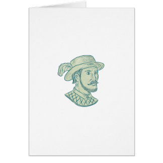 Juan Ponce de Leon Explorer Drawing Card