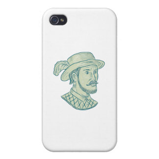 Juan Ponce de Leon Explorer Drawing Case For iPhone 4