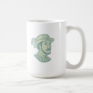 Juan Ponce de Leon Explorer Drawing Coffee Mug