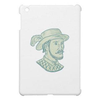Juan Ponce de Leon Explorer Drawing iPad Mini Cover