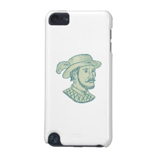 Juan Ponce de Leon Explorer Drawing iPod Touch (5th Generation) Case