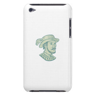 Juan Ponce de Leon Explorer Drawing iPod Touch Case-Mate Case