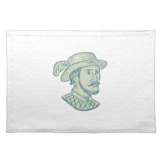 Juan Ponce de Leon Explorer Drawing Placemat