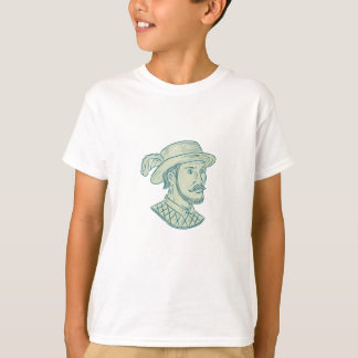 Juan Ponce de Leon Explorer Drawing T-Shirt