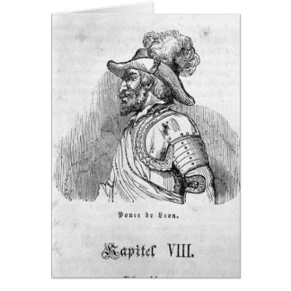 Juan Ponce de Leon Greeting Card
