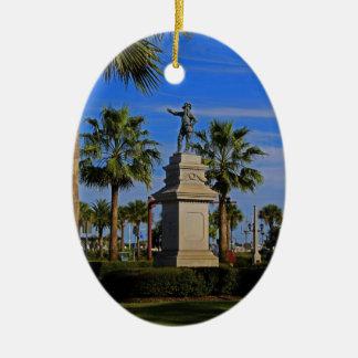 Juan Ponce de Leon -horizontal Ceramic Oval Ornament