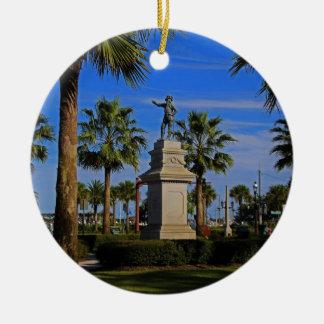 Juan Ponce de Leon -horizontal Round Ceramic Ornament