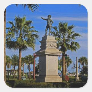 Juan Ponce de Leon -horizontal Square Sticker