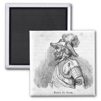 Juan Ponce de Leon Square Magnet