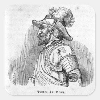 Juan Ponce de Leon Square Sticker