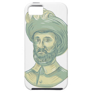 Juan Sebastian Elcano Bust Drawing Case For The iPhone 5