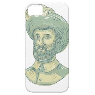 Juan Sebastian Elcano Bust Drawing iPhone 5 Case
