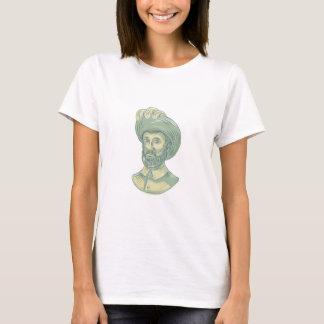 Juan Sebastian Elcano Bust Drawing T-Shirt