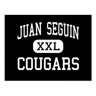 Juan Seguin - Cougars - High - Arlington Texas Postcard