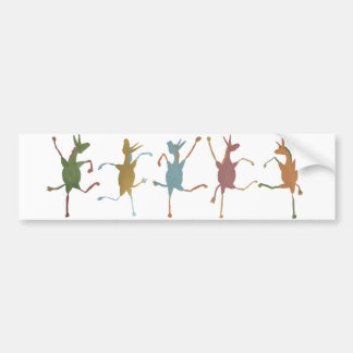 Jubilant Jennets (Silly Fillies) bumper sticker