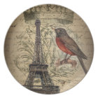 jubilee crown french bird paris eiffel tower plate