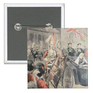 Jubilee of the Queen of England 2 Inch Square Button