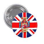 Jubilee Union Jack 1 Inch Round Button