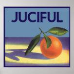 Juciful Oranges, Vintage Fruit Crate Label Art Posters