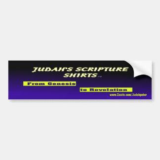 Judah's Scripture Shirts Bumper Sticker