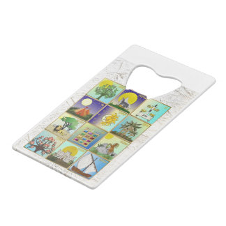 Judaica 12 Tribes Of Israel Art Print Credit Card Bottle Opener