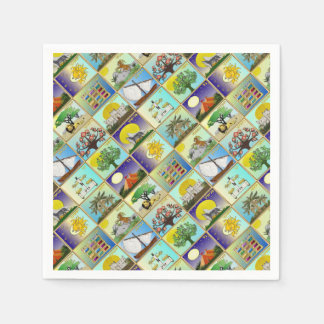 Judaica 12 Tribes Of Israel Art Print Disposable Napkin