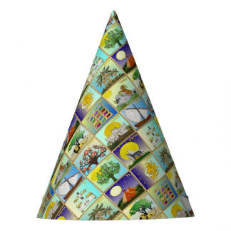 Judaica 12 Tribes Of Israel Art Print Party Hat