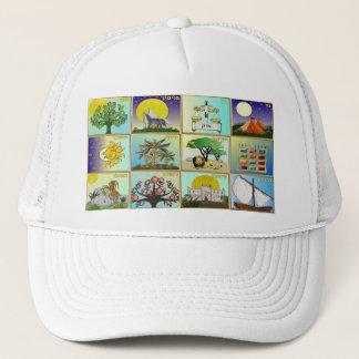 Judaica 12 Tribes Of Israel Art Print Trucker Hat