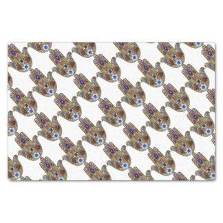 Judaica Hamsa Hearts Flowers Opal Art Print Tissue Paper