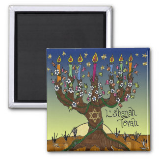 Judaica L'shanah Tovah Tree Of Life Gifts Apparel Magnet