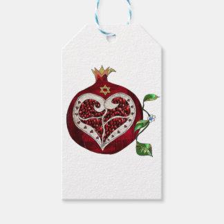 Judaica Pomegranate Heart Hanukkah Rosh Hashanah Pack Of Gift Tags