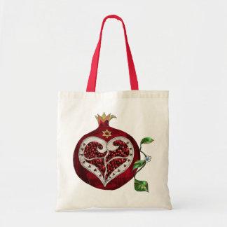 Judaica Pomegranate Heart Hanukkah Rosh Hashanah Tote Bag
