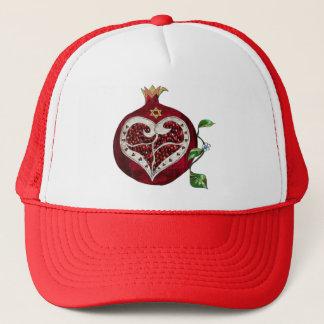 Judaica Pomegranate Heart Hanukkah Rosh Hashanah Trucker Hat