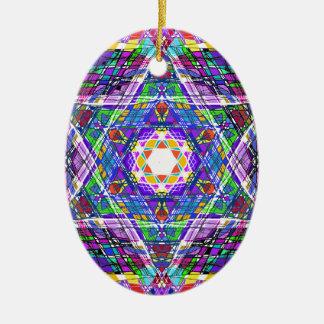 judaica...scribble ceramic oval ornament