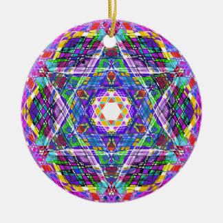judaica...scribble round ceramic ornament