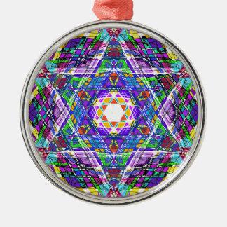 judaica...scribble Silver-Colored round ornament