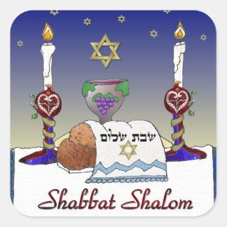 Judaica Shabbat Shalom Art Print Stickers