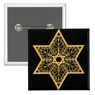 Judaica Star of David Button