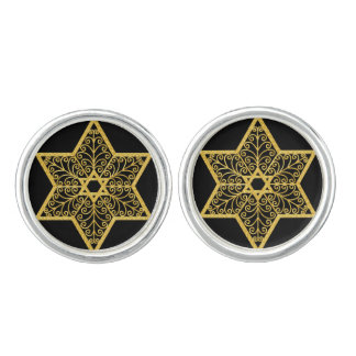 Judaica Stars of David Cufflinks