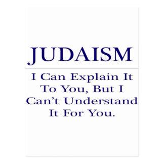 Judaism .. Explain Not Understand Postcard