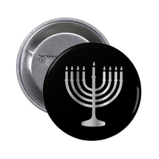 Judaism Menorah 2 Inch Round Button
