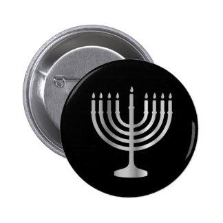 Judaism Menorah 2 Inch Round Button