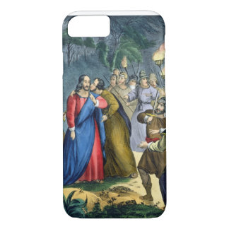 Judas Betrays his Master, from a bible printed by iPhone 7 Case