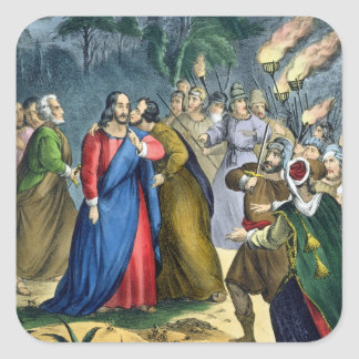 Judas Betrays his Master, from a bible printed by Sticker