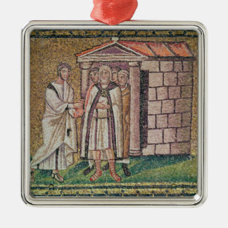 Judas Repents, Scenes from the Life of Christ Silver-Colored Square Ornament