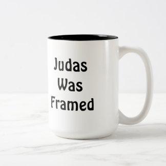 Judas Was Framed Two-Tone Coffee Mug