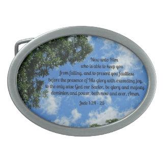 Jude 1:24-25 belt buckle