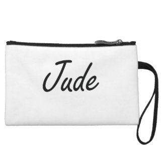 Jude Artistic Name Design Wristlet Clutch