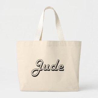 Jude Classic Retro Name Design Jumbo Tote Bag