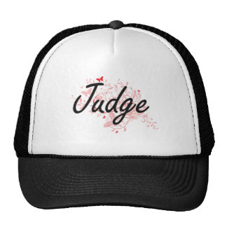 Judge Artistic Job Design with Butterflies Trucker Hat